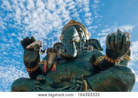 Ganesha statue and Hindu god at Thailand.