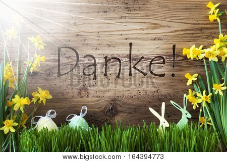 Wooden Background With German Text