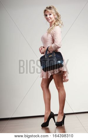 Coquette Lady With Handbag.