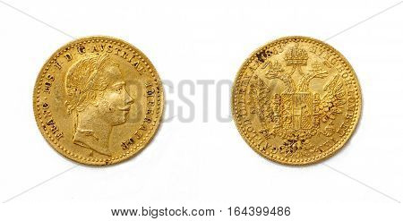 1 Ducat - Franz Joseph I - gold coin from Austria.