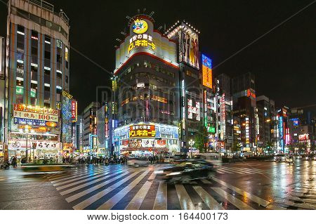 Tokyo Japan - November 21 2016 : Kabukicho Area in Tokyo Japan.Kabukicho is an entertainment and red-light district in Shinjuku Tokyo Japan.
