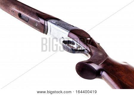 Classic Shotgun On White