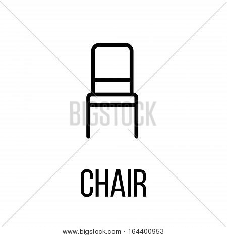 Chair icon or logo in modern line style. High quality black outline pictogram for web site design and mobile apps. Vector illustration on a white background.
