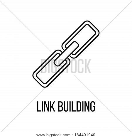 Link building icon or logo line art style. Vector Illustration.