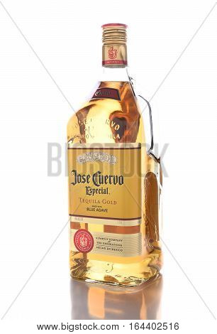 IRVINE CALIFORNIA - JANUARY 8 2017: Jose Cuervo Tequila. Founded in 1795 by Don Jose Antonio de Cuervo. It is the best selling tequila in the world.
