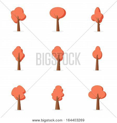 Set of tree collection stock vector illustration