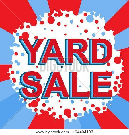 Red And Blue Sale Poster With Yard Sale Text. Advertising Banner