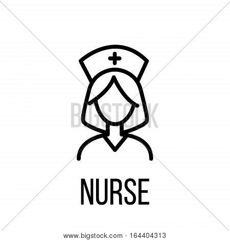 Nurse icon or logo in modern line style. High quality black outline pictogram for web site design and mobile apps. Vector illustration on a white background.