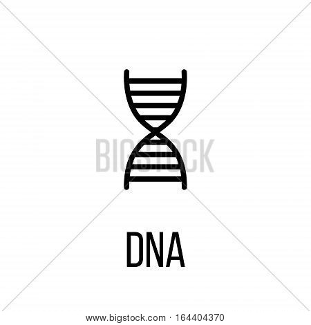 DNA icon or logo in modern line style. High quality black outline pictogram for web site design and mobile apps. Vector illustration on a white background.