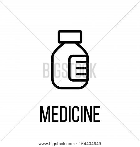 Medicine icon or logo in modern line style. High quality black outline pictogram for web site design and mobile apps. Vector illustration on a white background.