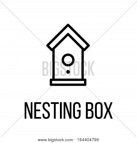 Nesting box icon or logo in modern line style. High quality black outline pictogram for web site design and mobile apps. Vector illustration on a white background.