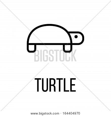 Turtle icon or logo in modern line style. High quality black outline pictogram for web site design and mobile apps. Vector illustration on a white background.