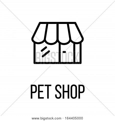 Pet shop icon or logo in modern line style. High quality black outline pictogram for web site design and mobile apps. Vector illustration on a white background.