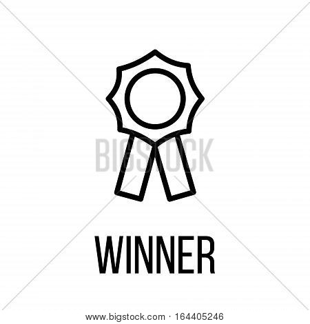 Winner icon or logo in modern line style. High quality black outline pictogram for web site design and mobile apps. Vector illustration on a white background.