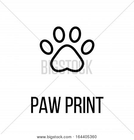 Paw printl icon or logo in modern line style. High quality black outline pictogram for web site design and mobile apps. Vector illustration on a white background.