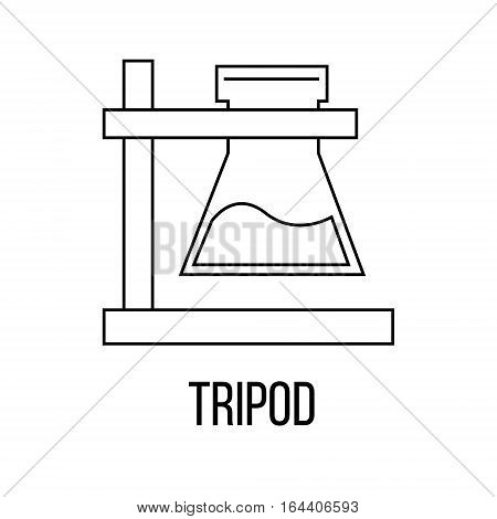 Tripod icon or logo line art style. Vector Illustration isolated on white background.