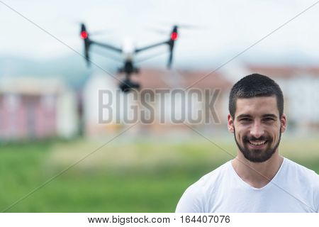 Man Control Drone