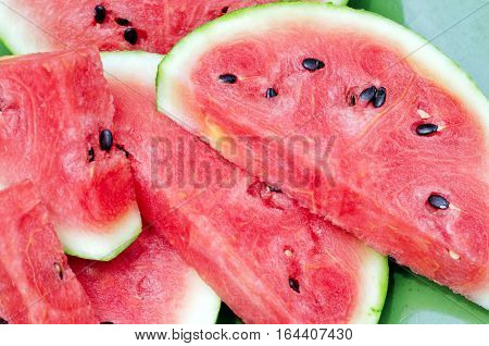 Sliced Fresh Ripe Juicy Red Watermelon