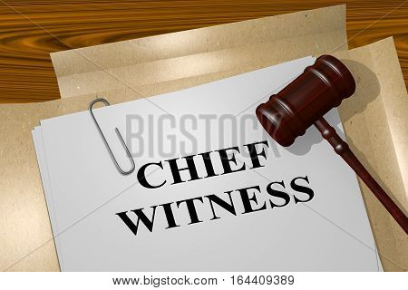 Chief Witness - Legal Concept