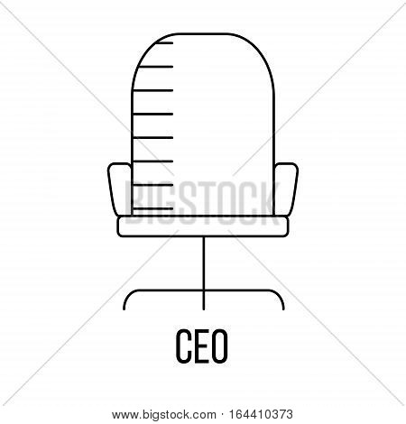 CEO icon or logo line art style. Vector Illustration.