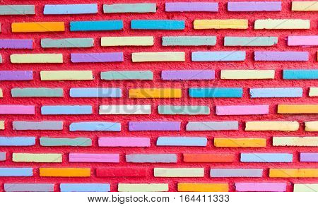 brick wall, Wall construction background,The strength of the wall