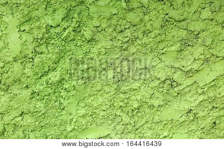 detail Green painted stucco wall texture background