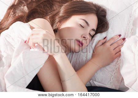 Sleep Dreaming Napping Morning Bed Frost Broken Heating Loneliness Winter Concept