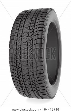 Tire isolated on the white background, 3d illustration