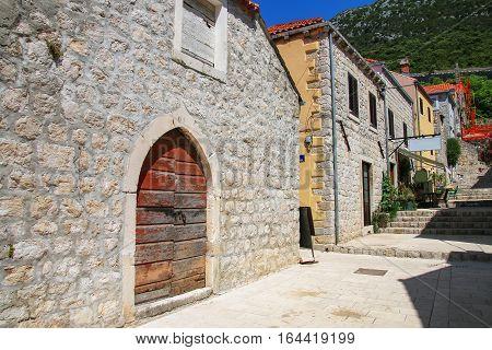 Street Of Ston Town, Peljesac Peninsula, Croatia
