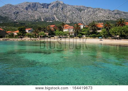 Town Of Orebic On Peljesac Peninsula, Croatia.