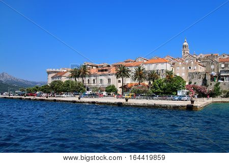 Pier Of Korcula Old Town, Croatia