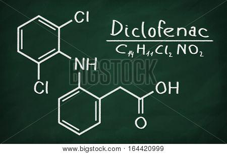 Structural Model Of Diclofenac