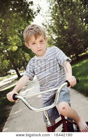 Young injured by on a bicycle