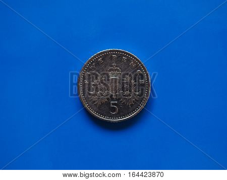 Five Pence Coin, United Kingdom
