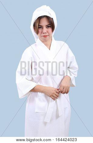 White Bathrobe