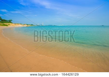 Sai Thong Beach, Sea At Rayong, Thailand