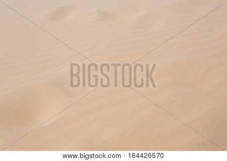 White Sand Dune Desert In Mui Ne, Vietnam