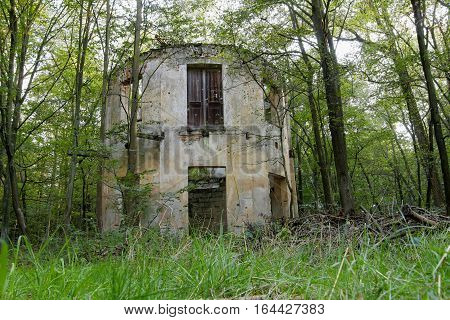 Abandoned old ruin in the woods - Summerhouse Czech republic