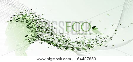 Vector Eco inspired by nature, express the ideas of nature conservative and the idea of thinking about nature trough the graphic design