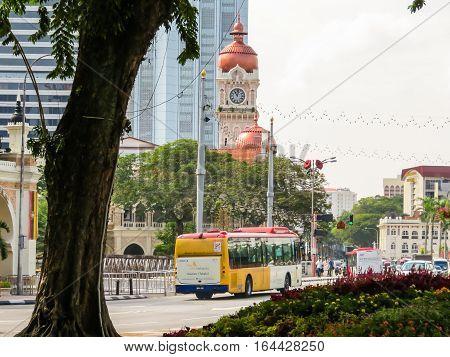 KUALA LUMPUR, MALAYSIA - JANUARY 14, 2014: Sultan Abdul Samad Building, Kuala Lumpur, Malaysia