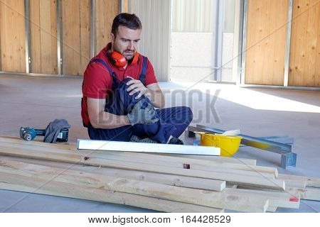 Worker suffering after on-the-job injury danger situation
