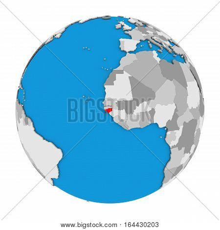 Guinea-bissau On Globe