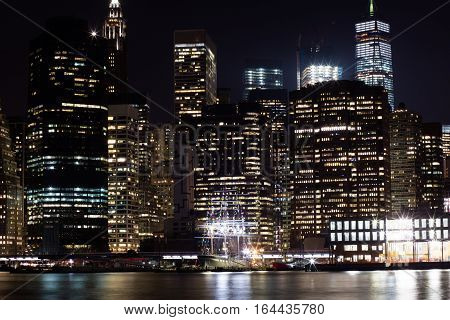 Night Photo With Manhattan
