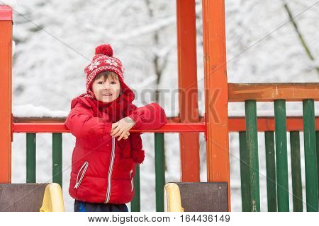 Sweet Children, Playing In The Snow On The Playground