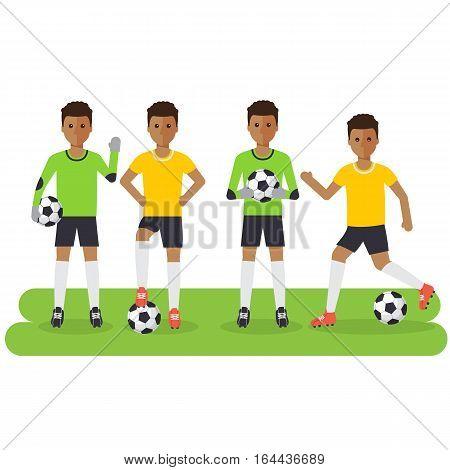 Black Soccer Sport Athletes