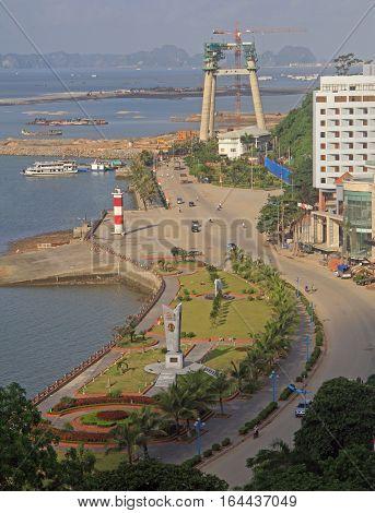 Port In Ha Long City, Vietnam