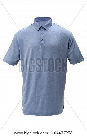 light blue golf teeshirt for man or woman on white background
