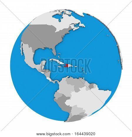 Haiti On Globe