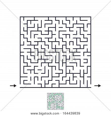 Vector difficult labyrinth. Maze or Labyrinth with Entry and Exit.