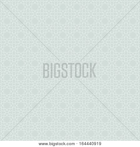 Seamless ornament. Modern geometric pattern with repeating elements. Light blue and white pattern